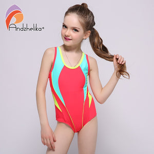 Swimwear One Piece Solid Patchwork Bathing Suit
