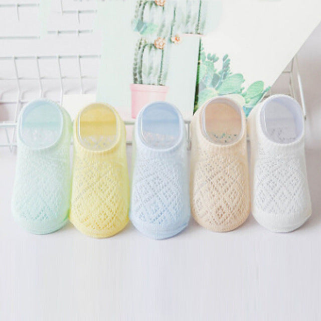 New Breathable Mesh Summer Cotton Baby Socks