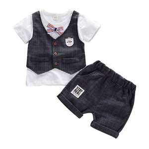 Summer Short-Sleeved Top + Vest + Shorts 3 pcs