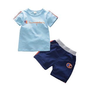 Boys Short Sleeve T-shirt + Shorts
