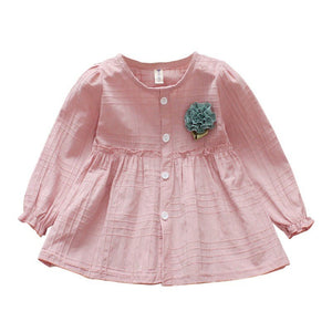 Girls Long Sleeve Party Dress
