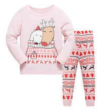 Load image into Gallery viewer, Cotton Long Sleeve Cartoon Pajamas Set