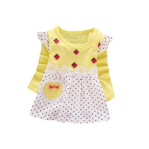 Girls Polka Dot Long Sleeve Dress
