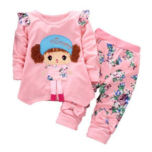 Load image into Gallery viewer, Cartoon Long Sleeved Tops + Pants  2PCS