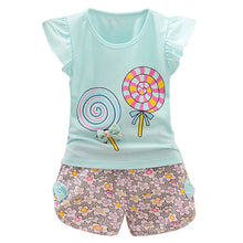Load image into Gallery viewer, Lolly Top + Shorts 2 pcs