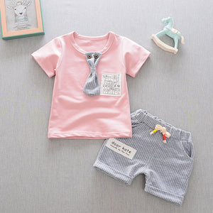Summer Short Sleeve T-Shirts + Shorts 2 pcs