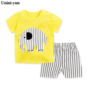 Summer Short sleeved T-shirt + Shorts 2 pcs