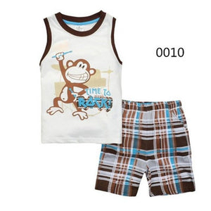 Summer Short Sleeve Costume Cotton Pajamas