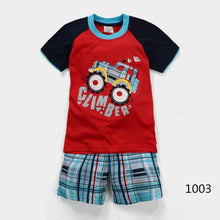 Load image into Gallery viewer, Summer Short Sleeve Costume Cotton Pajamas