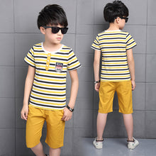 Load image into Gallery viewer, Short Sleeve T-Shirt + Pants 2 pcs
