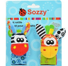 Load image into Gallery viewer, 2/4 Pcs Animal Baby Wrist Rattle Toy + Socks