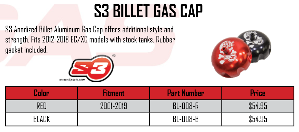 S3 BILLET GAS CAP