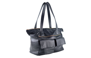Classic Leather Bag - Black
