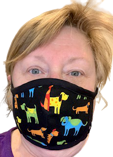 Face Masks - Colourful Dogs - Yum Treats Online