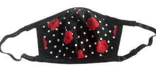 Fashion Set - Face Mask & Matching Bandana - Rose - Yum Treats Online