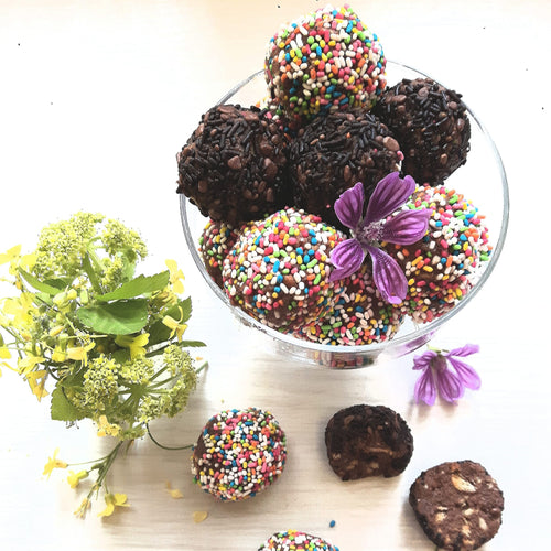 Chocolate Biscuit Truffles with Lemon Sugar No Butter Added