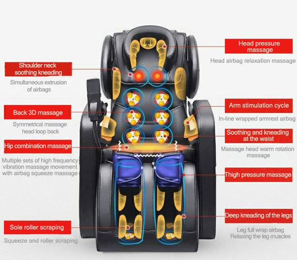 Deluxe Electric Multifunctional Massage Chair-Family & Elderly Care Product