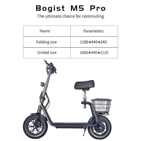 electic folding scooter with seat