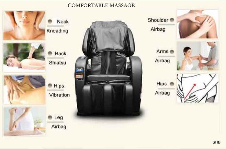 Commercial Coin Operated Massage Chair-Comfortable massage