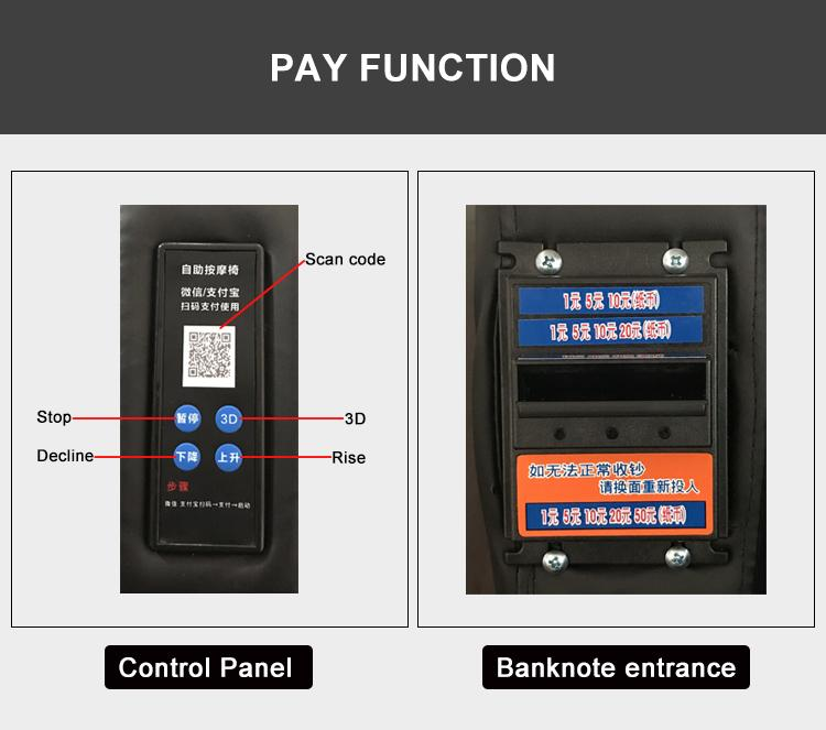 Remote control for Commercial Coin Operated Massage Chair