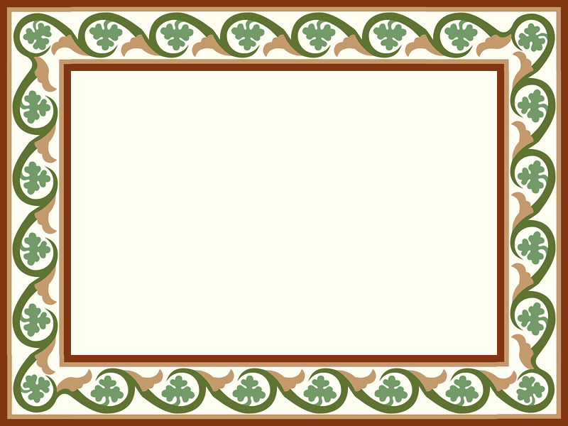 Handmade border tile in a color harmony-Vine design inspired by a Byzantine Era Mosaic