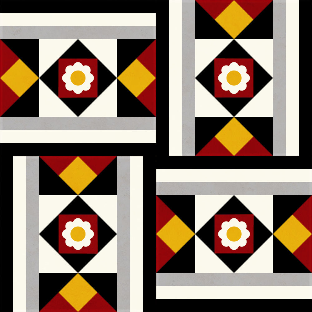 Handmade tiles-Neoclassical dynamic pattern design-Unlimited color mixtures
