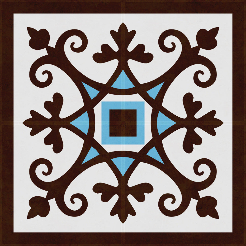 CRETALIA neoclassical tiles, flooring them with tiles in modern pattern designs. The perfect combo!