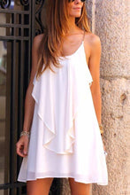 Load image into Gallery viewer, White Sweet Fashion Sleeveless Casual Dress