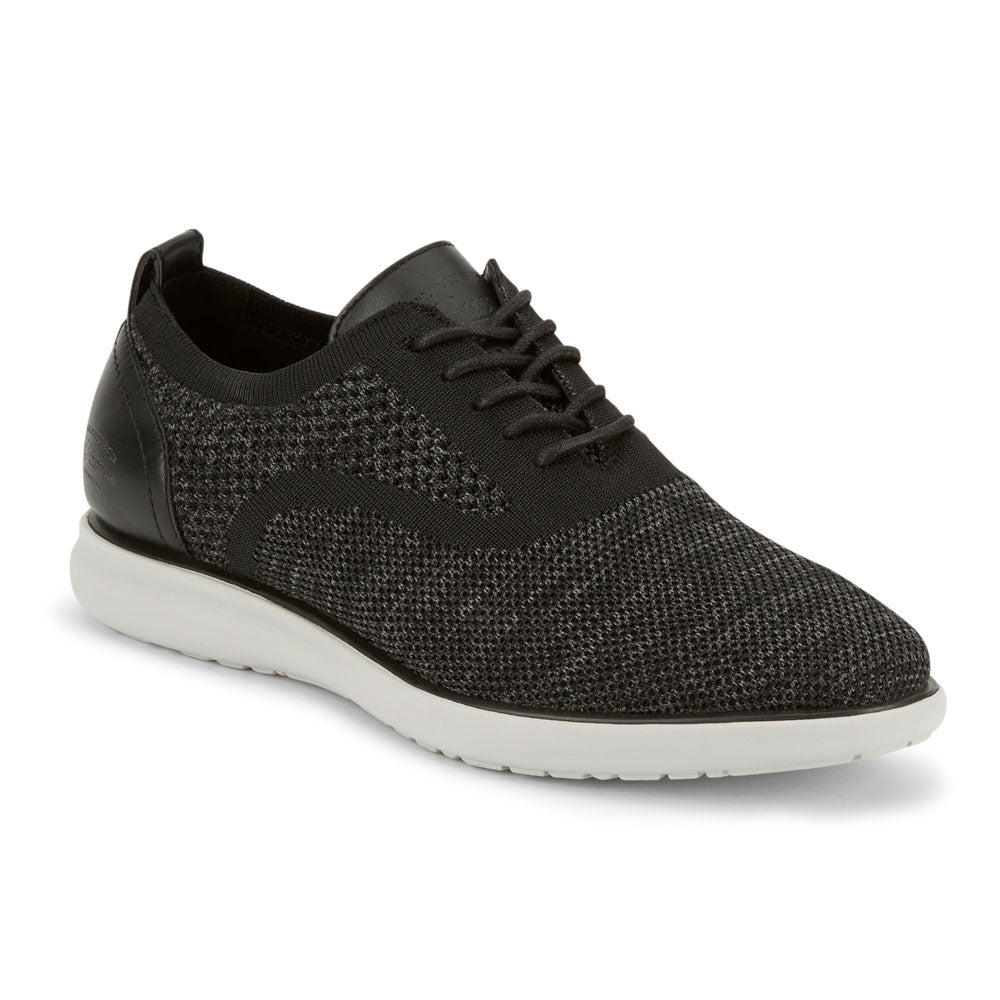Charcoal/Black-G.H. Bass & Co. Mens Connor 2 Tone KT Casual Stretch Knit Oxford Sneaker Shoe