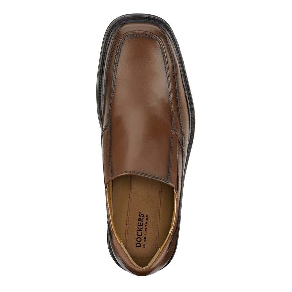 ede39dfb3ea6d Tan-Dockers Mens Proposal Genuine Leather Business Dress Slip-on Loafer Shoe