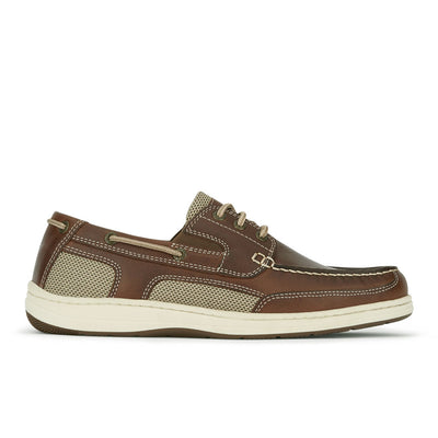 Briar-Dockers Mens Beacon Genuine Leather Casual Classic Boat Shoe with NeverWet