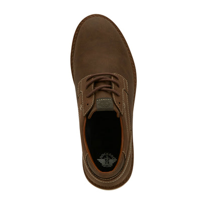 Dark Tan-Dockers Mens Blake Business Casual Lace-up Rubber Sole Comfort Oxford Shoe
