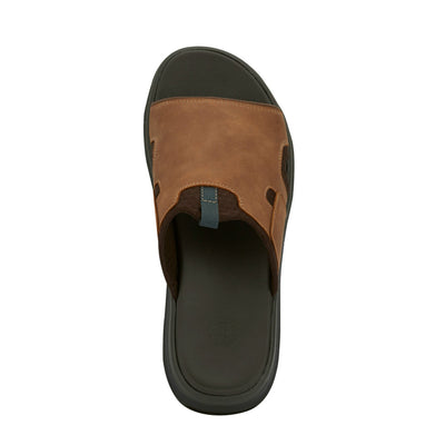 Tan-Dockers Mens Shawn Casual Outdoor Sandal Shoe with SupremeFlex Outsole