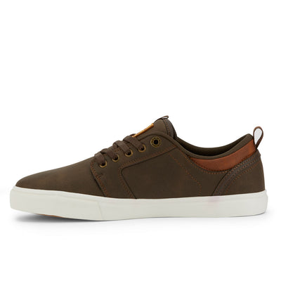 Brown/Tan-Levi's Mens Alpine Waxed UL NB BT Synthetic Leather Casual Lace-up Sneaker Shoe