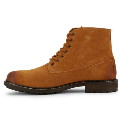 Tan-Levi's Mens Sheffield Suede Genuine Leather Fashion Lace-up Casual Boot
