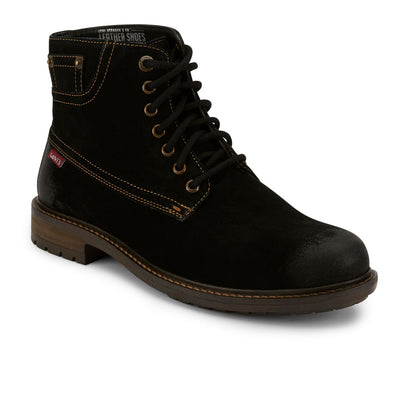 Black-Levi's Mens Sheffield Suede Genuine Leather Fashion Lace-up Casual Boot