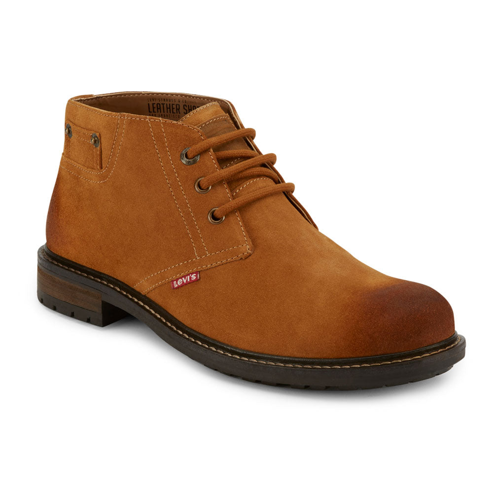 Tan-Levi's Mens Cambridge Suede Genuine Leather Casual Lace-up Rugged Chukka Boot