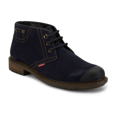 Navy-Levi's Mens Cambridge Suede Genuine Leather Casual Lace-up Rugged Chukka Boot