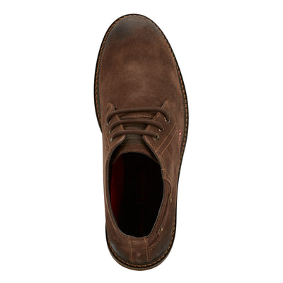 Brown-Levi's Mens Cambridge Suede Genuine Leather Casual Lace-up Rugged Chukka Boot
