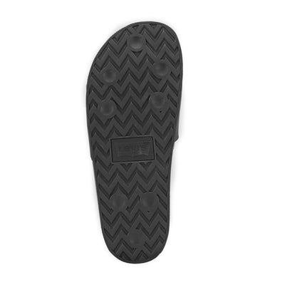 Black-Levi's Mens 3D Soft Comfort Rubber Outsole Slip-on Slide Soccer Sandal
