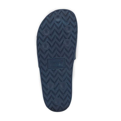 Navy-Levi's Mens 3D Soft Comfort Rubber Outsole Slip-on Slide Soccer Sandal