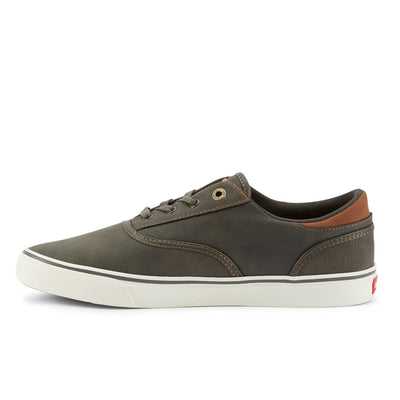 Charcoal-Levi's Mens Ethan Perf WX UL NB Casual Rubber Sole Fashion Sneaker Shoe