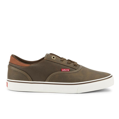 Brown-Levi's Mens Ethan Perf WX UL NB Casual Rubber Sole Fashion Sneaker Shoe