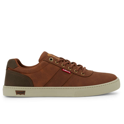 Tan/Brown-Levi's Mens Beaumont WX C Synthetic Leather Casual Lace-up Sneaker Shoe