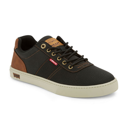 Black/Tan-Levi's Mens Beaumont WX C Synthetic Leather Casual Lace-up Sneaker Shoe