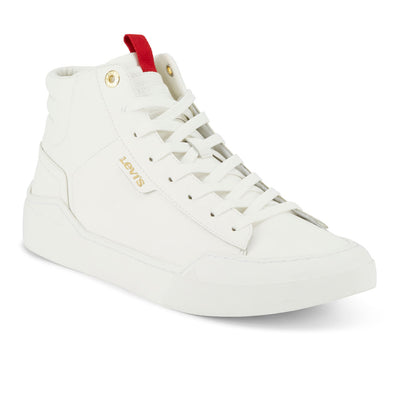 White-Levi's Mens 521 XX Est Hi LE Synthetic Leather Fashion Hightop Sneaker Boot Shoe