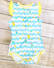 Load image into Gallery viewer, Ruffle Butt Bath Time Onesie (DISCONTINUED)