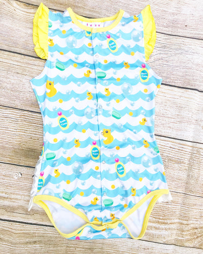 Ruffle Butt Bath Time Onesie (DISCONTINUED)