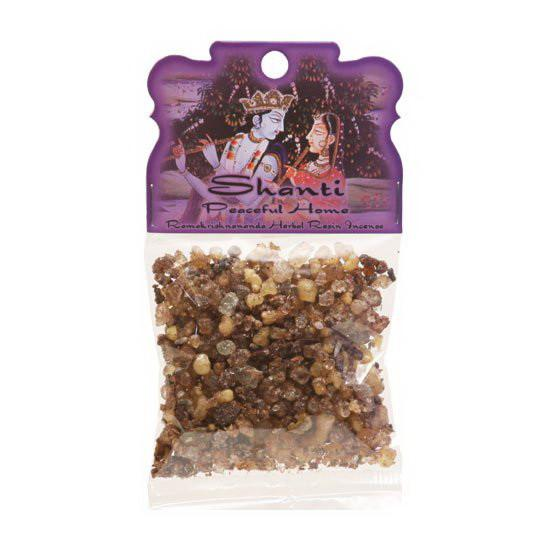 Handmade Herbal Resin Incense Shanti - Peaceful Home - 1.2oz bag