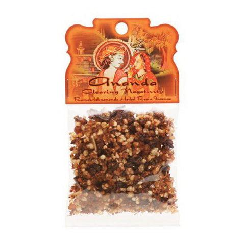 Handmade Herbal Resin Incense Ananda - Clearing Negativity - 1.2oz bag